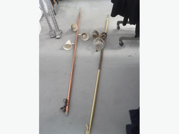 Pole Lamps (The Lamp on the Right is Sold.)