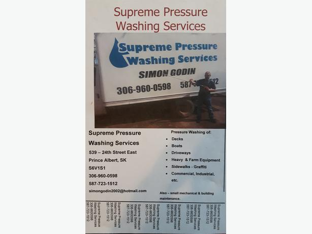 supreme pressure washing services