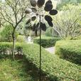 Double-Sided Sculpted Metal Pinwheel Windmill Yard Ornament New