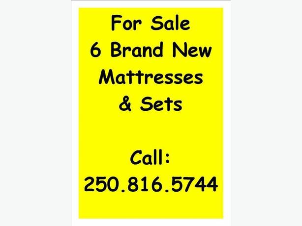 6 BRAND NEW MATTRESS SETS TO CLEAR OUT