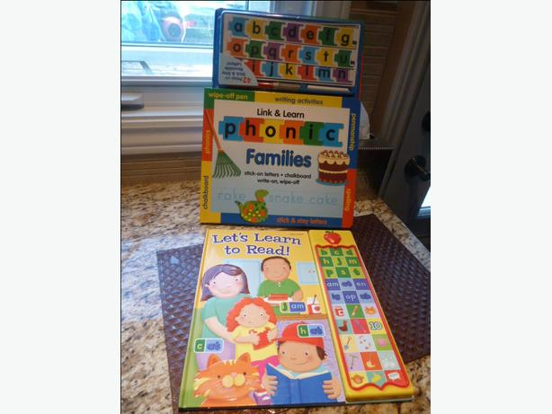 2 interactive pre-reading books for pre-schoolers