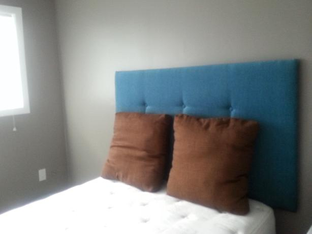 upholstered double headboard