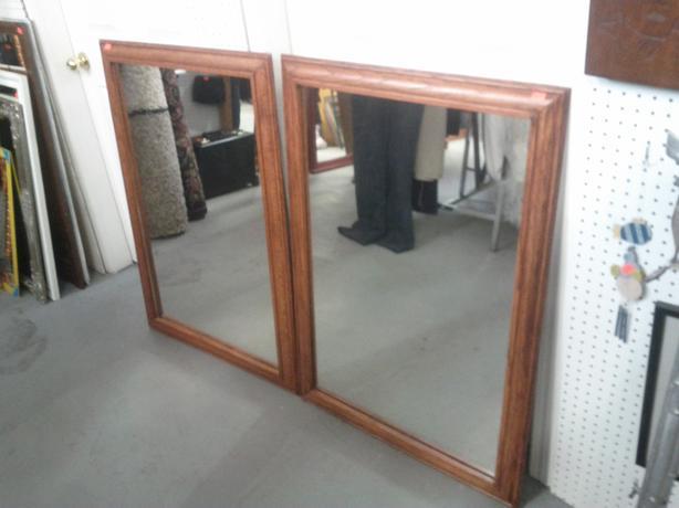 Oak Framed Mirror (Only 1 Left)