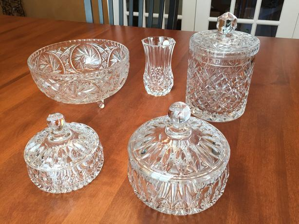 Crystal - 5 pieces, perfect condition