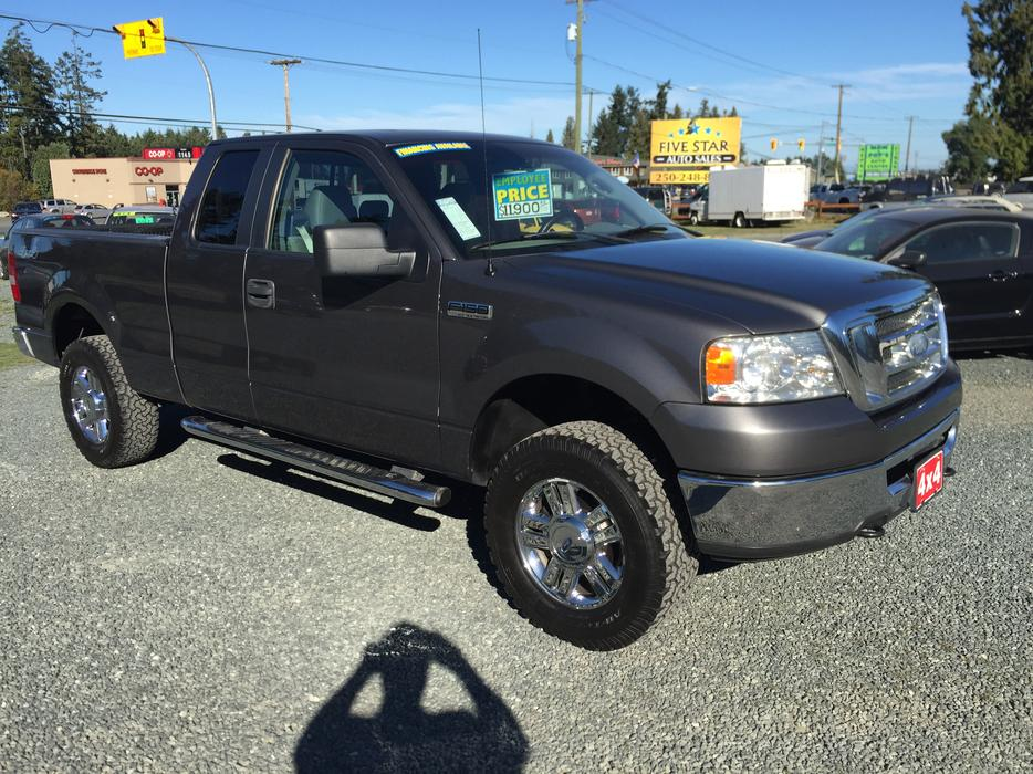 2007 ford f 150 super cab 4wd 5 4l v8 automatic one owner outside comox valley campbell. Black Bedroom Furniture Sets. Home Design Ideas