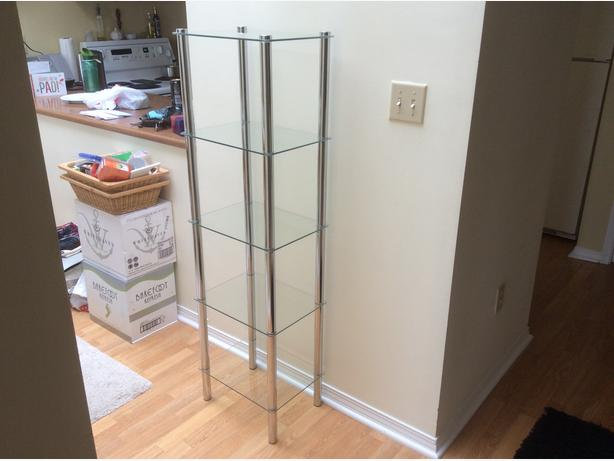5-Tier Shelf (clear) - EXCELLENT CONDITION!