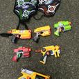 Nerf assorted pistols