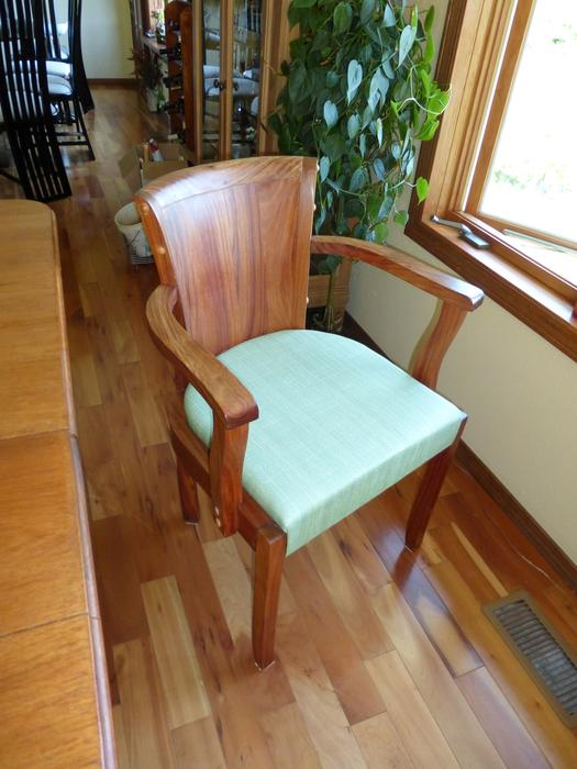 1930s Art Deco Teak Dining Room Set Outside Nanaimo