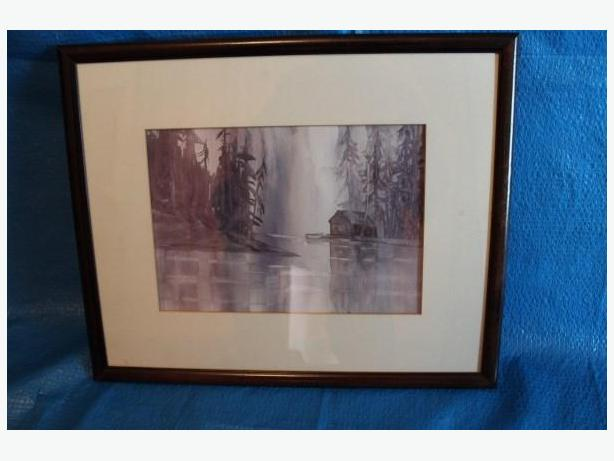 "PAINTING IN FRAME BY ""ELY"" OF VICTORIA BC"