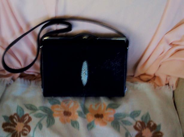 Exotic Stingray Leather Evening Bag/Purse