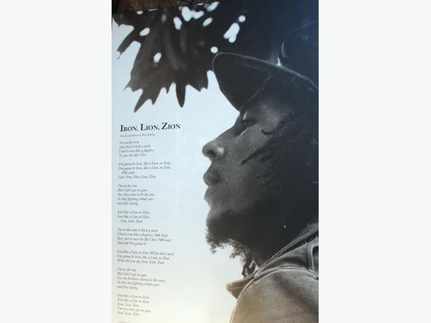 BOB MARLEY Iron Lion Zion Lyrics 24 X 36 Mounted Poster