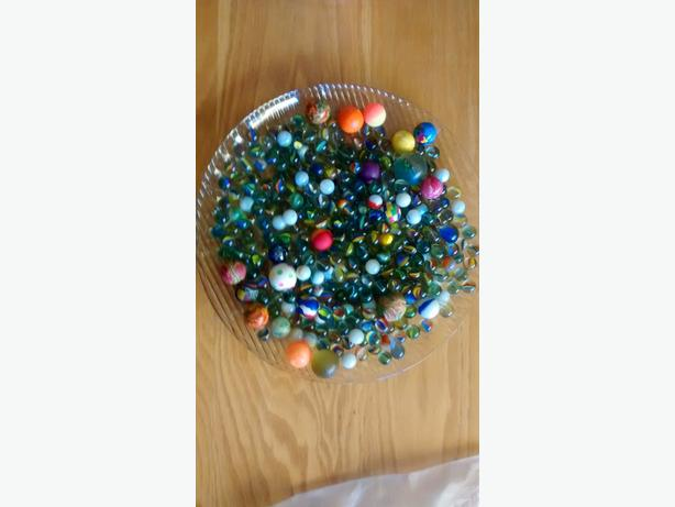marbles and bouncy balls