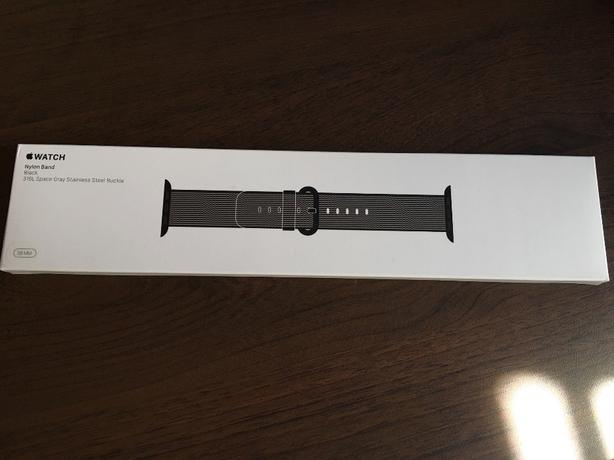 Apple Watch 38mm Black Nylon Band