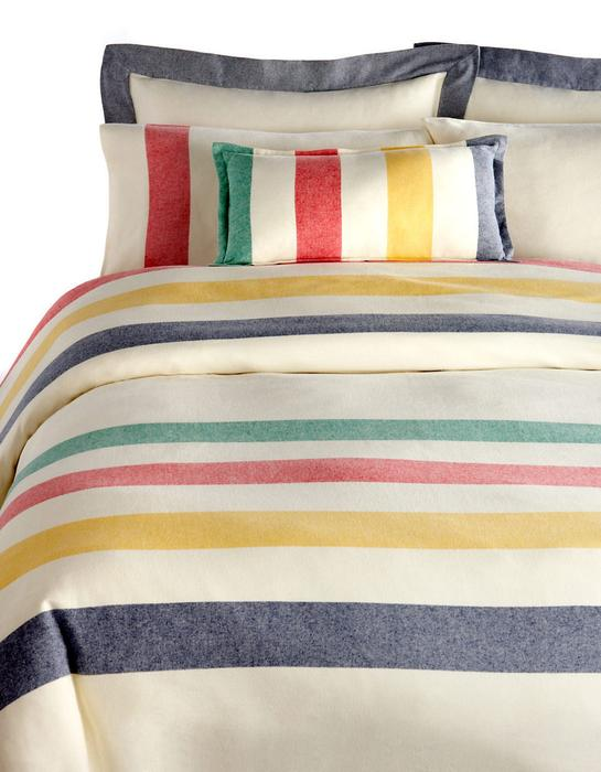 Hudson S Bay Company Multi Stripe Flannel Bedding Queen