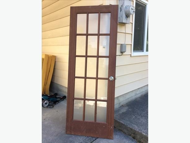 Wood paned door