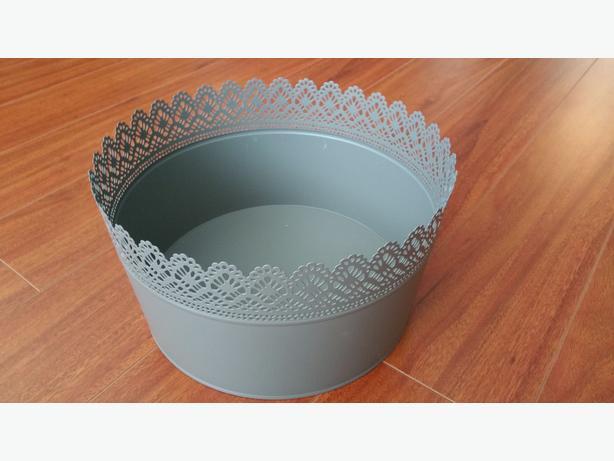 Metal Flower Pots (Grey)