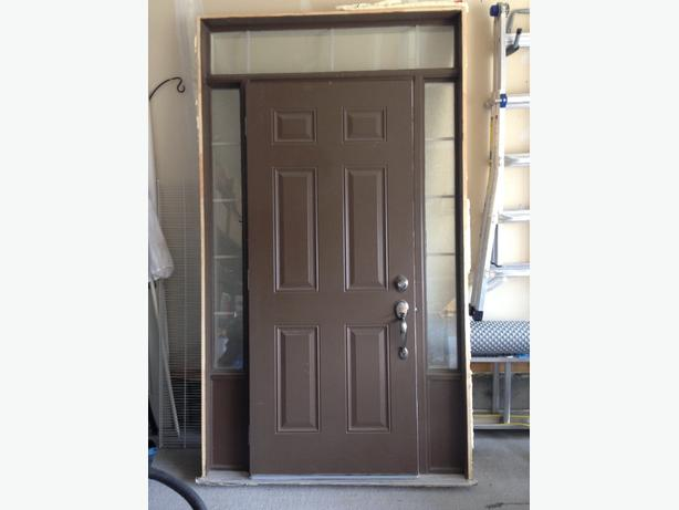 Front door with frame