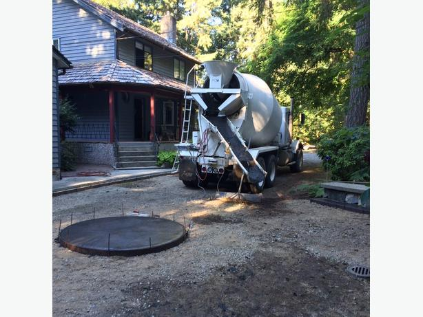 concrete delivered and placed