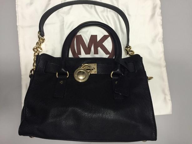Michael Kors Handbag (Medium Hamilton Leather Satchel)