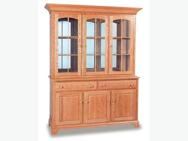 Solid Oak China Cabinet Hutch Victoria City Victoria