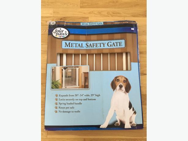 New, locking, metal, pet safety gate