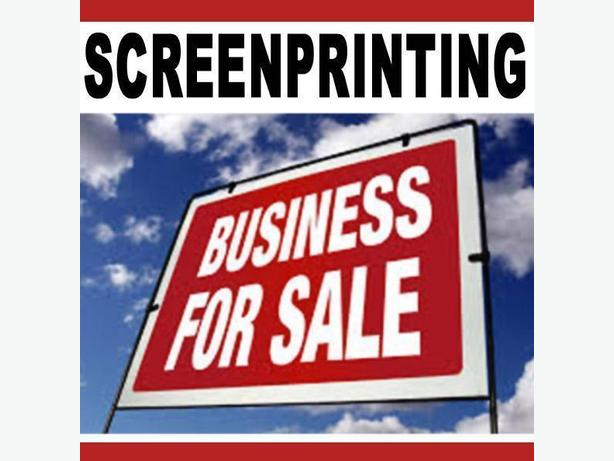 Screen Printing Shop For Sale