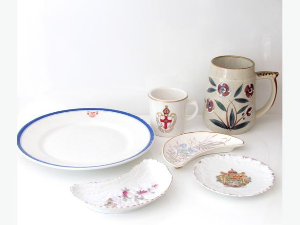Assortment of Vintage Dishes, Mugs, Plates, Bone Plates...