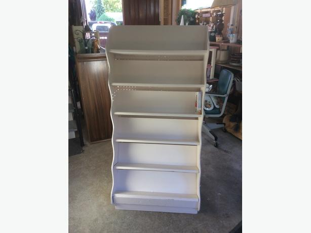 wooden display shelving unit or book case