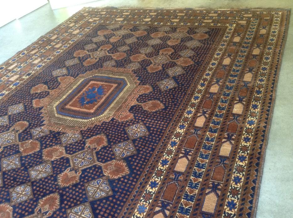 Hand Knotted Wool Area Rug Carpet From Afghanistan Saanich
