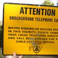 Vintage 1965's Bell Canada Underground Telephone Cable Sign