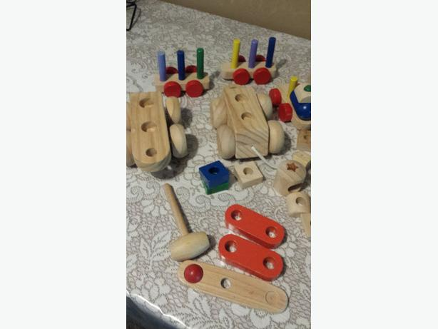 wooden blocks and cars for sale