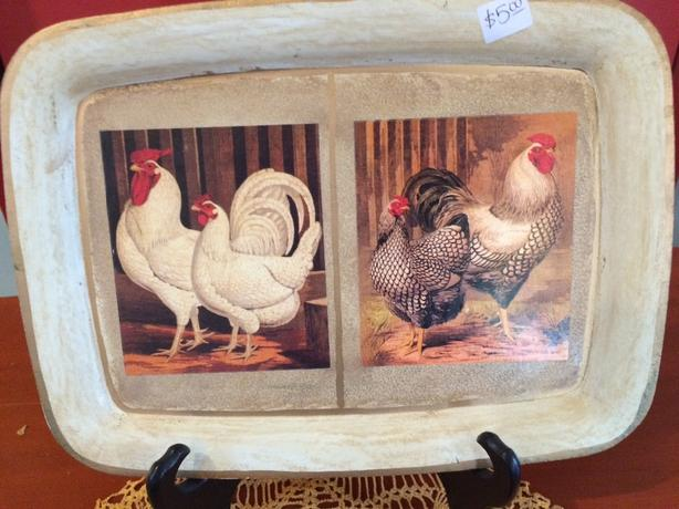 Painted Rooster Dish