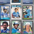 Toronto Blue Jays nice lot 460 baseball cards 1977-93 + 3 skeds