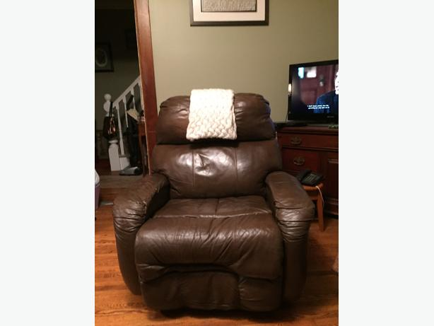 Brown Leather lounging chair