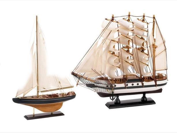 Prebuilt Model Ship Ornaments Bermuda & Passat 2PC Mixed New