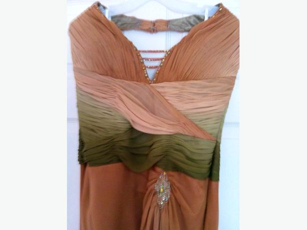 copper colour dress