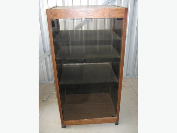 Obo Stereo Cabinet With Smoked Glass Door West Regina Regina