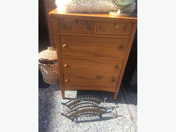 old solid vintage dresser