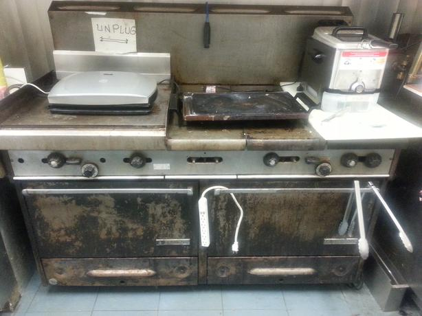 Garland  Gas Grills/element/dual ovens.