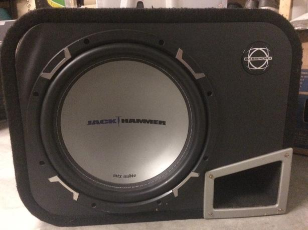 "MTX jackhammer 12"" sub in ported box"
