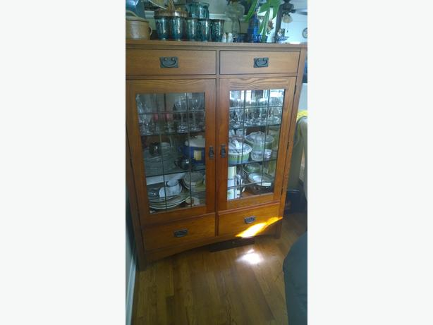 MISSION STYLE CHINA  CABINET