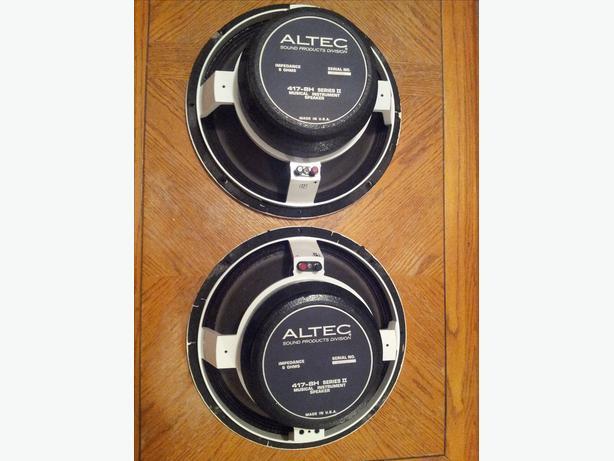 Altec 417-8H speakers