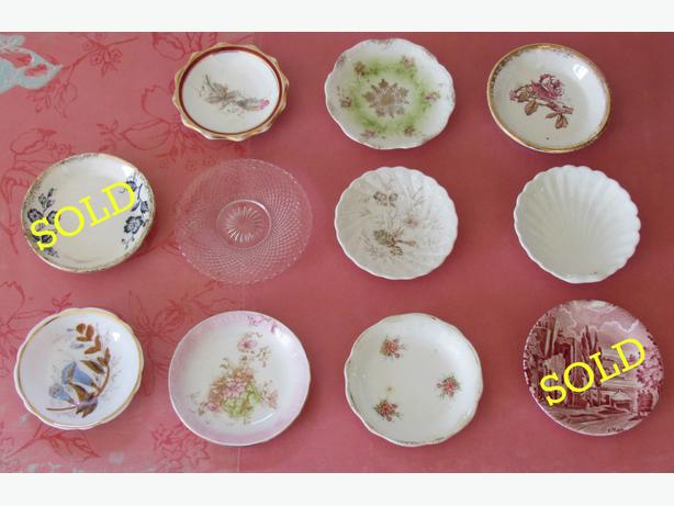 9 Antique & Vintage Butter Pats Remaining $3 ea or $20/9
