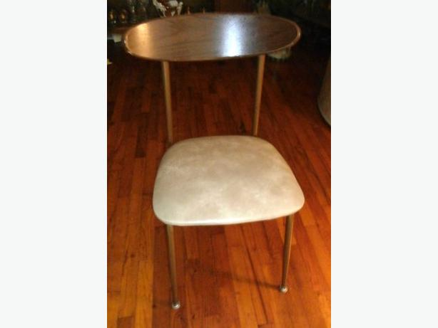 Vintage Retro Occasional Chair with vinyl seat