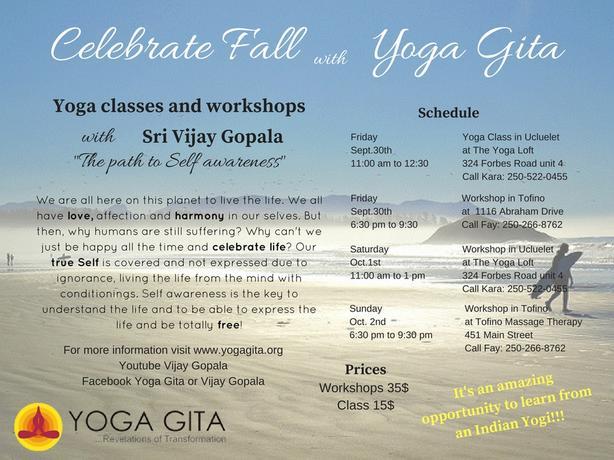 Yoga classes or workshops