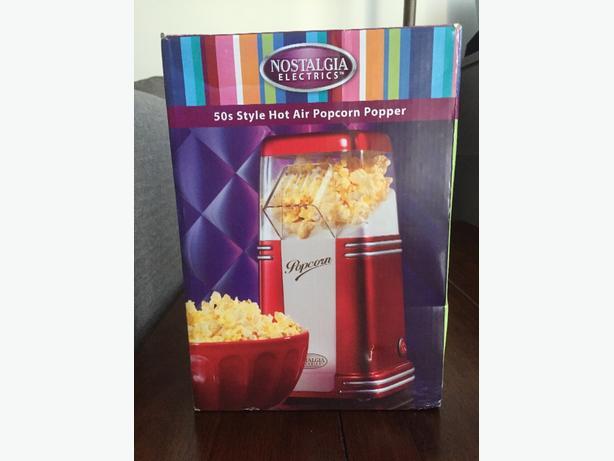 Retro style popcorn popper