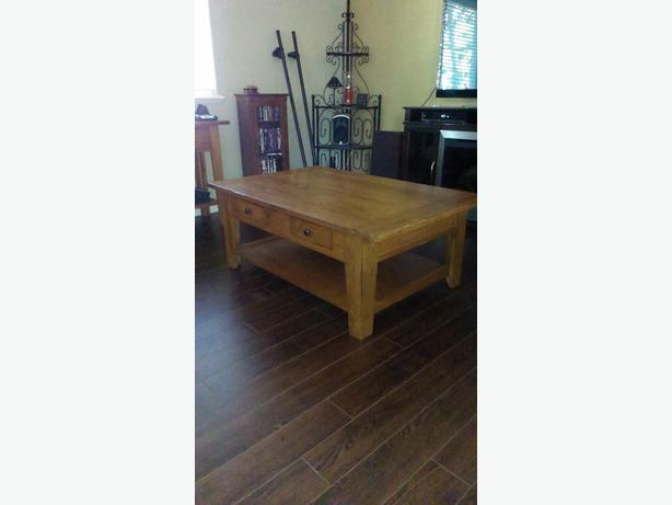 Attic Heirlooms Rectangular Coffee Table In Oak Saanich Victoria