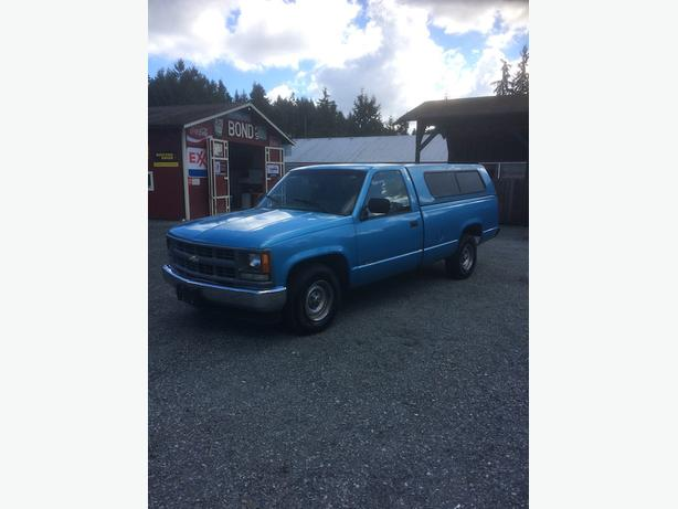 1994 Chevrolet 1500 Single Cab Long Box W/T - 5 Speed Manual with Canopy