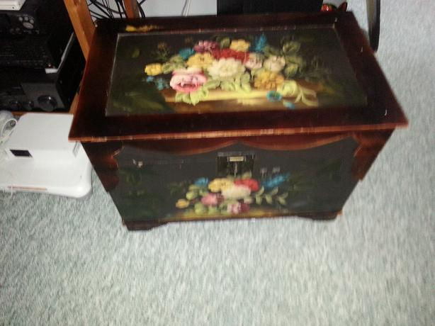 lovely hand painted wooden chest