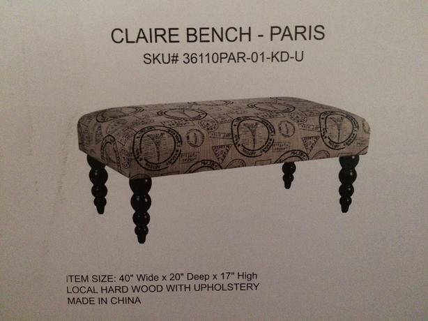 claire bench Paris